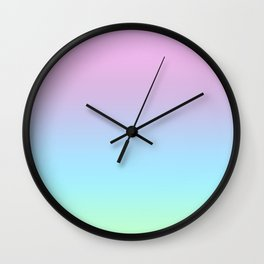 Pastle Gradient 2 Wall Clock