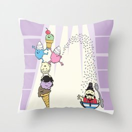 The Amazing Scoops! Throw Pillow
