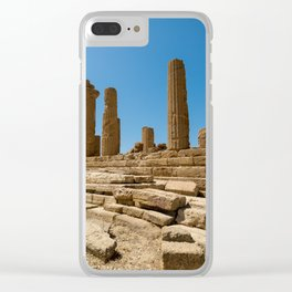 landscape ruined temple Clear iPhone Case