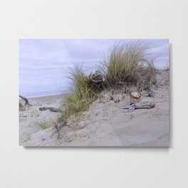 Waldport Oregon - Sand Time Metal Print