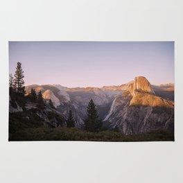 Sunset at Glacier Point Rug