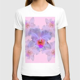 TROPICAL LILAC CATTLEYA ORCHID FLOWERS PINK ART T-shirt