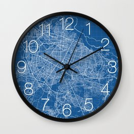Guadalajara City Map of Mexico - Blueprint Wall Clock