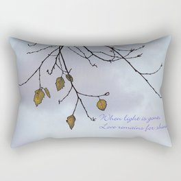 When light is gone Rectangular Pillow
