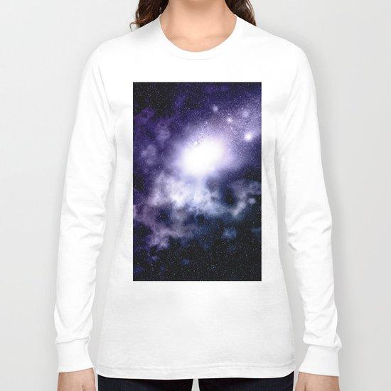 Purple Nebula Long Sleeve T-shirt