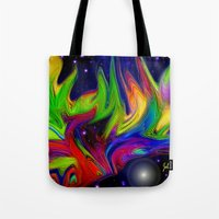 makeup Tote Bags featuring Galactic makeup by JT Digital Art