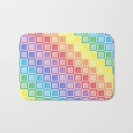 Static Rainbow Squares Bath Mat