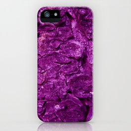 PURPLE ON BARK iPhone Case