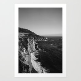 Monochrome Big Sur Art Print