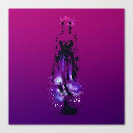 Splaaash Series - Flower Queen Ink Canvas Print