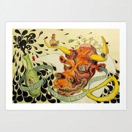 Ideia Noturna Art Print