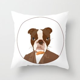 Mr. Brodes Throw Pillow