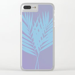 Palm Leaves #3 #Lilac #Blue #decor #art #society6 Clear iPhone Case