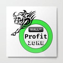Bull Market Stock Exchange Profit Dividend Investor Gift Metal Print
