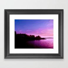 Northern Lights at Sunset Framed Art Print