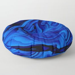 Blue Liquid Marbled texture Floor Pillow