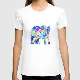 Colorful family elephants T-shirt