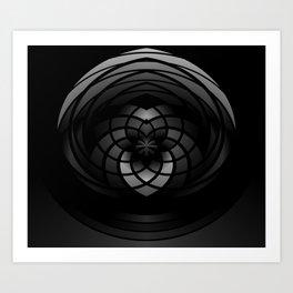 Modern Me Dark Spiral Art Print