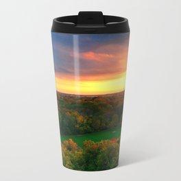 Fall Sunset Metal Travel Mug