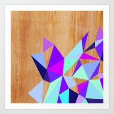 Wooden Geo Purple Art Print
