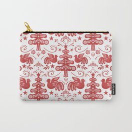 Hygge - Scandinavian Winter (white/ red) Carry-All Pouch