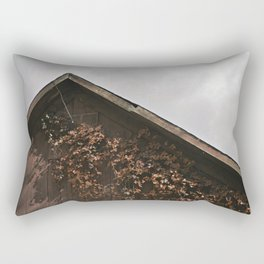 Camouflage - Red Leaves on Barn Rectangular Pillow