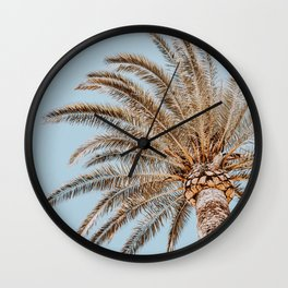 a palm tree xii Wall Clock