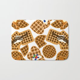 Waffle On Bath Mat