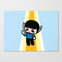 spock Canvas Prints featuring Spock by Ziqi