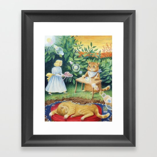Beauty Lives By Kindness Framed Art Print