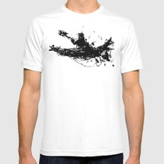 Kayakers Kayak White Mens Fitted Tee MEDIUM