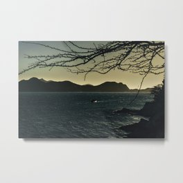 Landscape Aerial View of Taganga Bay in Colombia Metal Print
