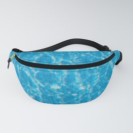 Blue pool water texture - fresh water background Fanny Pack