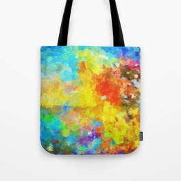 Abstract Painting with Vivid Colours Tote Bag