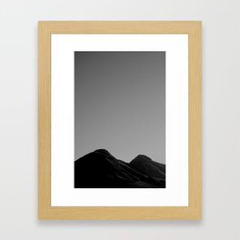 uncensored mountain Framed Art Print
