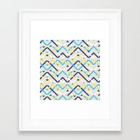 navy Framed Art Prints featuring Navy by La Señora