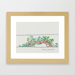 Finding Joy Along the Path Framed Art Print