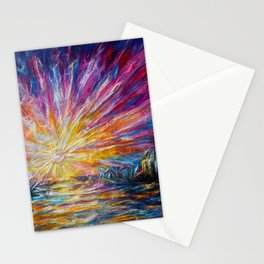 Van Gogh's Style Sunlight Painting Stationery Cards