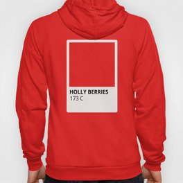 Holiday Color Holly Berries Red Hoody