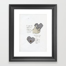 Cork my Heart/Tower25 graphic novel print Framed Art Print