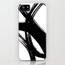 Abstract Wall art, Abstract Print, Black White Abstract Print, Black White Art, Minimalist Print, Ab iPhone Case