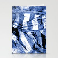 bands Stationery Cards featuring Blue Bands by Motif Mondial
