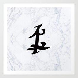 Shadowhunter Parabatai Rune - Marble Art Print