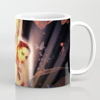 fairytale Mugs featuring Fairytale by Emma Design Digital Arts