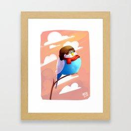Aviator budgie Framed Art Print