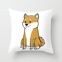 Shiba Inu Cute Cartoon  Throw Pillow