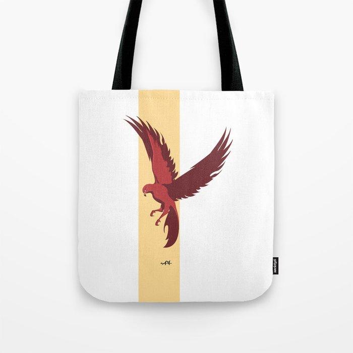 Red Falcon Tote Bag