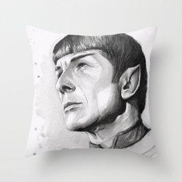 Star Trek Spock Portrait Throw Pillow