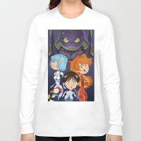neon genesis evangelion Long Sleeve T-shirts featuring Evangelion by Sara Michieli