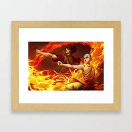 Aang and Zuko Framed Art Print